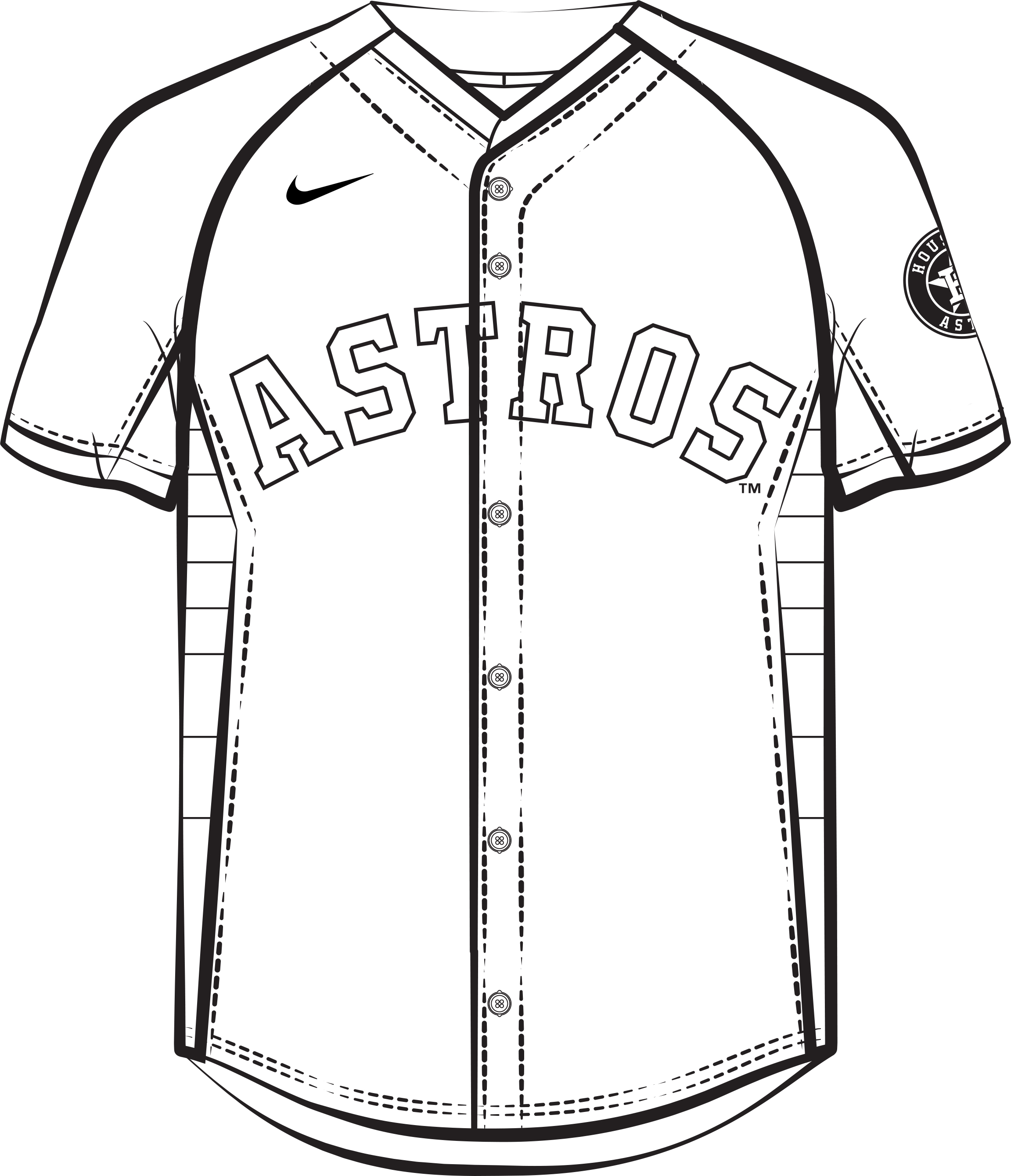 Astros Activities Coloring Pages Houston Astros