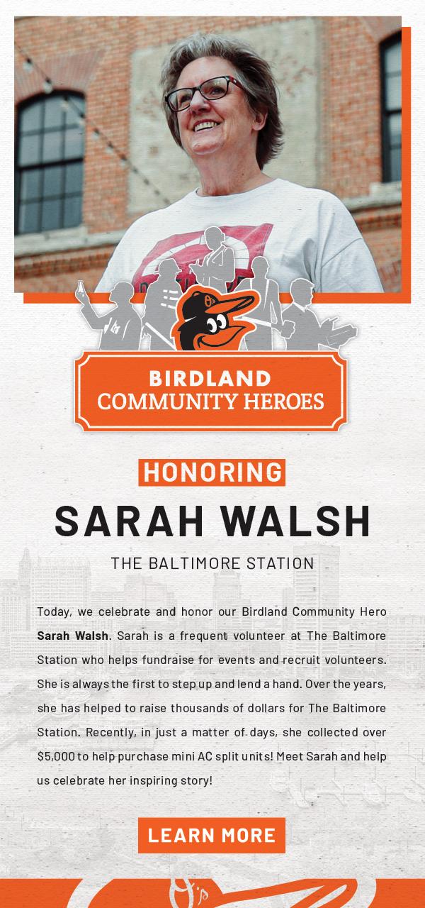 Meet Sarah Walsh - Our Birdland Community Hero