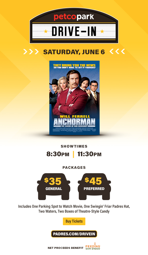 Watch Anchorman at the Petco Park Drive-in