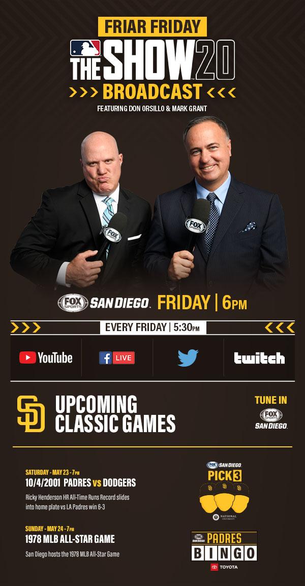 FRI-YAY! It's Friar Friday with Don Orsillo and Mark Grant + Padres Classics