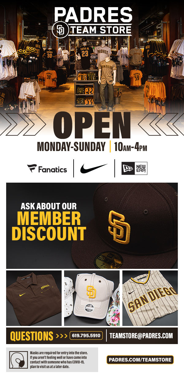 Padres Team Store Now Open Daily