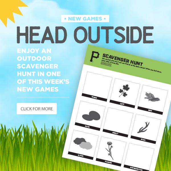 Head outside and enjoy an outdoor scavenger hunt in one of this week's new games. Click for more.