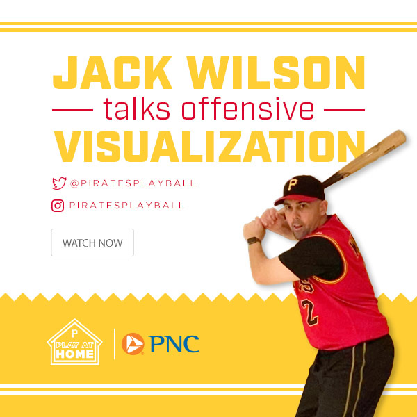 Jack Wilson talks offensive visualization. Pirates Play At Home. Watch Now.
